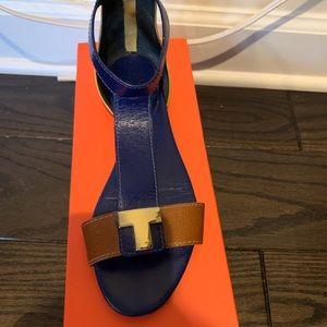 Tory Burch Colorblock T Strap Sandals